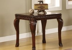 Image of 1-pc End Table in Dark Cherry Finish PDS F60231 (B004RPW9MQ)
