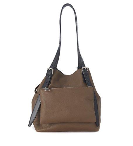 sac-mm6-maison-margiela-moyenne-en-peau-de-veau-marron-avec-pochette