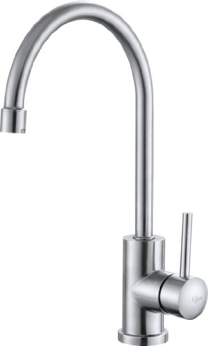 Kraus KPF-2160-SD20 Single Lever Kitchen Faucet and Soap Dispenser, Stainless Steel