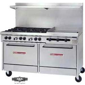 "Southbend - S60Dd-2G - S-Series 60"" Restaurant Range W/6 Burners & 24"" Griddle"