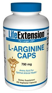 Life Extension Arginine Capsules, 700 mg, 200 Count