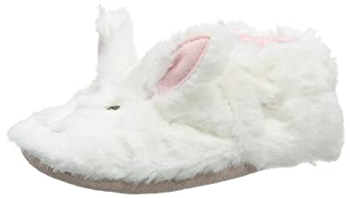 Robeez Baby-Girl Fuzzy Bunny Booties 336651-10 White 0-6 Months, 17 EU