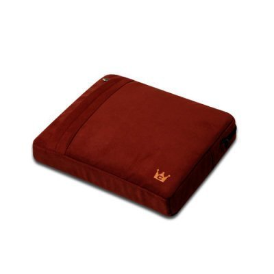 CaseCrown Faux Suede Protective Sleeve with Shoulder Strap and Pocket (Tomato Red) for the Apple iPad