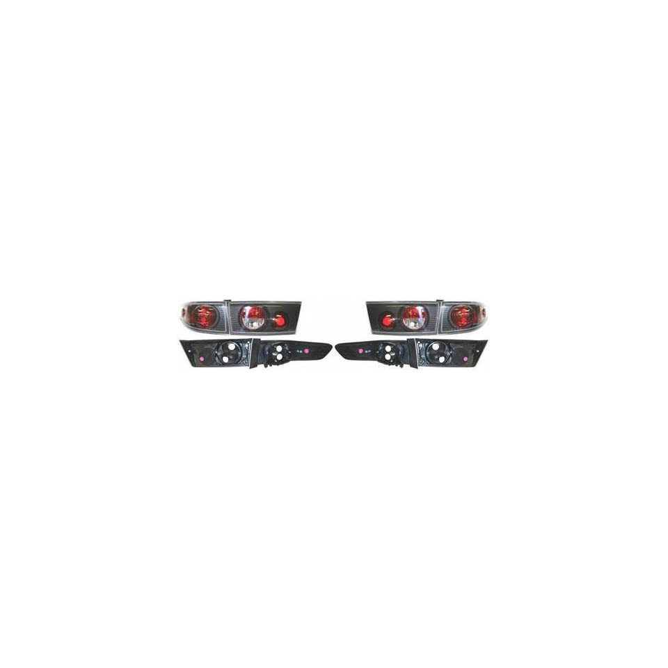03 04 HONDA ACCORD SEDAN ALTEZZA CRYSTAL CLEAR TAIL LIGHT, one set (left and right included), All Transparent Lens w/ Red Cap, JDM Type (2003 03 2004 04) HD0304CCTL Performance