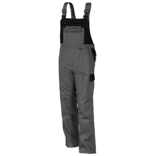 Qualitex-Image-Latzhose-Mischgewebe-65-Baumwolle-35-Polyester-31055-8-62Grau-Schwarz