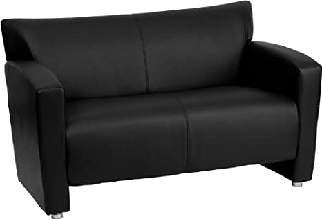 Flash Furniture 222-2-BK-GG Hercules Majesty Series Black Leather Love Seat