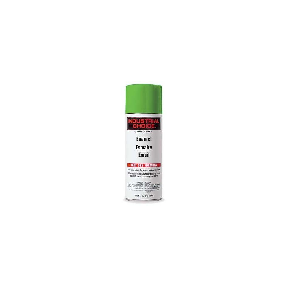 RUST OLEUM 1632830 Industrial Spray Paint,Fluor.,Green,12oz