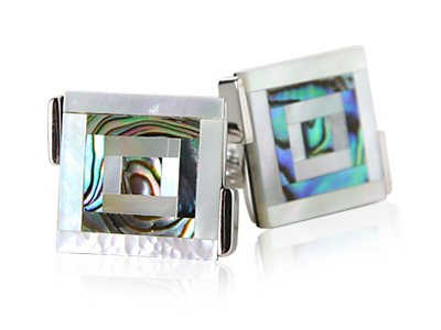 Abalone Cufflinks with & Mother of Pearl
