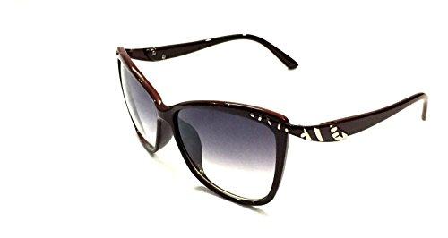 FashioNext Bug Eye (Maroon) Women Eye Wear Sunglasses (FNS058)