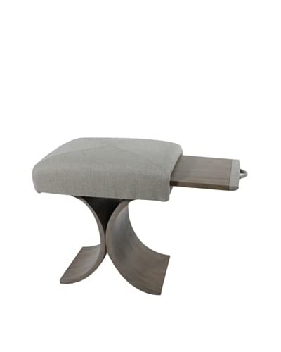 COUEF Giana Classic Convertible Ottoman-Table-Stool, Driftwood/Linen As You See
