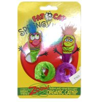 SPRINGY WORMS CATNIP TOY 2PK