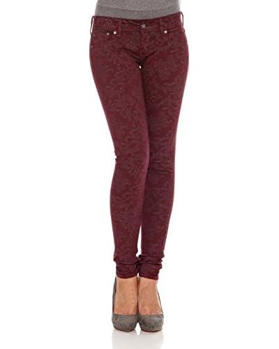 Pepe Jeans London Pantalón Skittle Burdeos W28L30