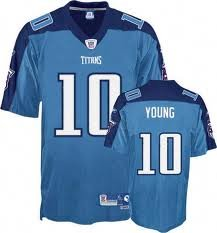 Tennessee Titans VINCE YOUNG #10 Mens NFL Premier Jersey, Light Blue by Reebok