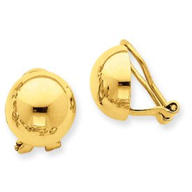 Non-Pierced Clip-on Earrings yellow-gold
