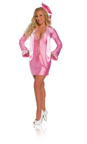 Secret Wishes  Licensed Playboy Costume, Graduate Gown, Pink, Medium