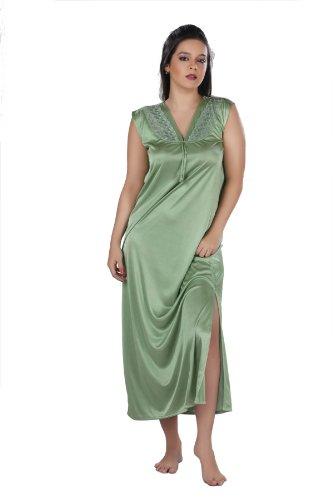 Exclusive 2 Piece Full Length Night Wear,1piece Nightly & 1piece Gown- Ls_5051_2p