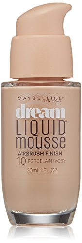 Maybelline New York Dream Liquid Mousse Foundation, Porcelain Ivory Light 1, 1 Fluid Ounce (Packaging May Vary)