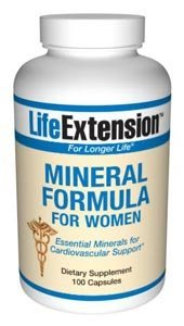 Life Extension Mineral Formula For Women | 100 capsules ( Multi-Pack)