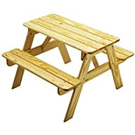 Unfinished Kid Sized Picnic Table