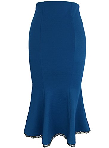 VfEmage Women's Elegant High Waist Party Work Mermaid Bodycon Pencil Midi Skirt 3