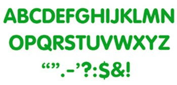 "Trend Enterprises ""Letters & Marks"" STICK-EZE Stick-On Letters, 2"", Green (T-1790)"