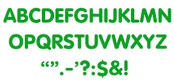 "Trend Enterprises ""Letters & Marks"" STICK-EZE Stick-On Letters, 2"", Green (T-1790)"