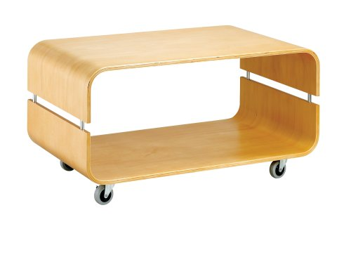 Adesso Contour Rolling Coffee Table