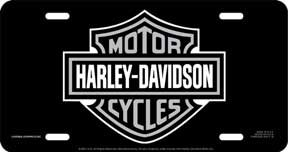 Chroma 6x 12 Stamped Aluminum Auto Tags - Harley Davidson