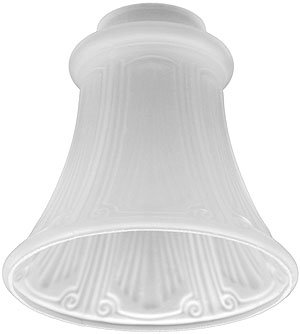 Light Shade Replacement. Satin Crystal Fluted Panlight Shade with 2 1/4″ Fitter Reviews