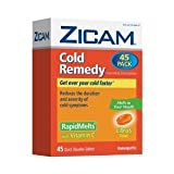 ザイカム かぜ薬 (シトラス味) - 45個 - Zicam Cold Remedy Dissolving Tablets Citrus Flavors 45-Count