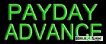 Payday Advance Budget Neon Sign