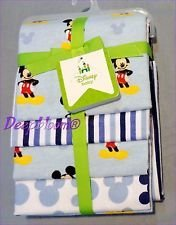 Disney Baby - Mickey Mouse 4 Pack Receiving Blankets - 1