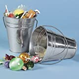 Large Galvanized Buckets (1 dozen) - Bulk [Toy]