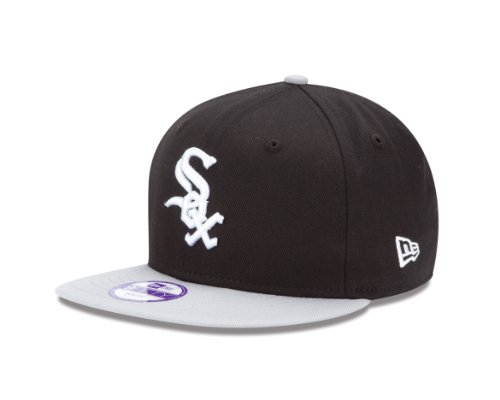 MLB Chicago White Sox 9Fifty Snapback Cap, Black/Gray, One Size Fits All
