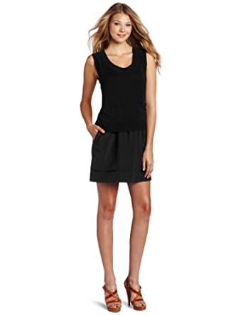 Cluny Women's Double Sweater Dress, Black, X-Small