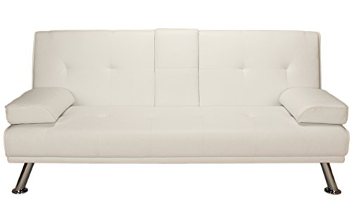Astonishing Buy Cheap Como Click Clack Sofa Bed With Pillows And Chrome Alphanode Cool Chair Designs And Ideas Alphanodeonline
