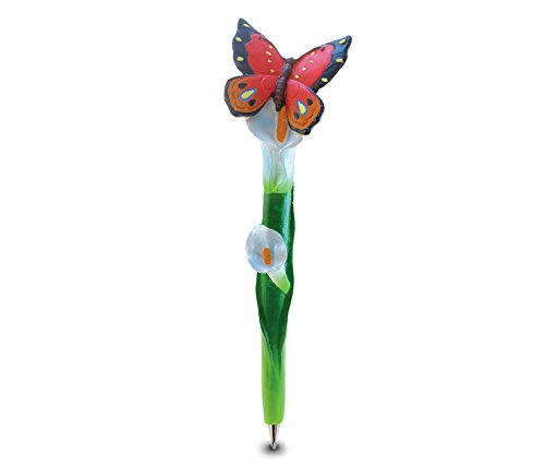 Puzzled Butterfly Resin Planet Pen