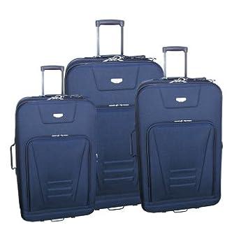3 - Pc. Traveler's Club® Milano™ Expandable Luggage Set, BLACK