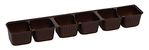 Brown Candy Trays, 6 piece 1 Row - Case of 500 (Chocolate Packaging Tray compare prices)