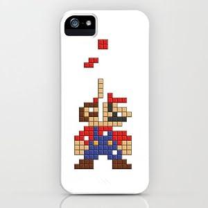 Society6/ソサエティシックス iphone5 ケース スーパーマリオ  Super_Mario_Tetris