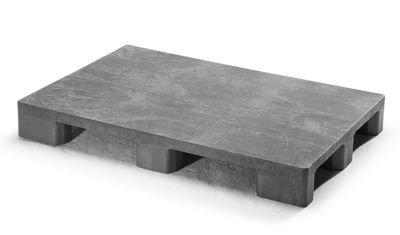 euro kunststoffpalette ohne kufen grau kunststoff paletten europaletten paletten. Black Bedroom Furniture Sets. Home Design Ideas