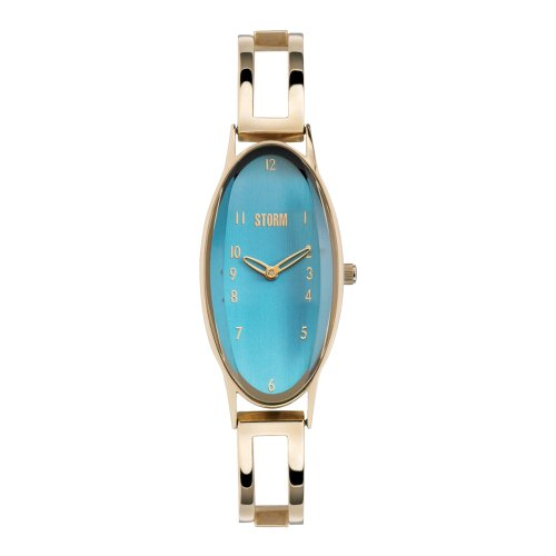 Storm Zody Aqua Ladies Watch with Aqua Dial and Stainless Steel Bracelet