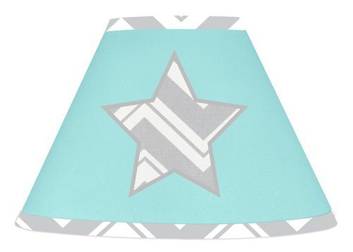 Sweet Jojo Designs Turquoise and Gray Chevron Zig Zag Lamp Shade by Sweet Jojo Designs