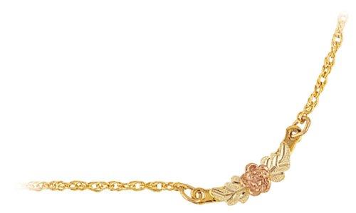 Mt. Rushmore Black Hills Gold® 10K Rose Ankle Bracelet