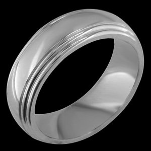 Jumella - size 4.50 Classic Titanium Band with Grooves on the Side