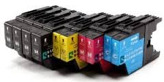 compatible Ink Cartridges to Brother LC1220, LC1240 for Brother MFC-J280W, MFC-J425W, MFC-J430W, MFC-J435W, MFC-J5910DW, MFC-J625DW, MFC-J6510DW, MFC-J6710DW, MFC-J6910DW, MFC-J825DW, MFC-J835DW, DCP-J525W, DCP-J725DW, DCP-J925DW (10 pack LC1240 (2 sets + 2 black))