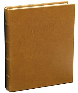 Traditional Coach-Tan Leather Medium Bound scrapbook-style