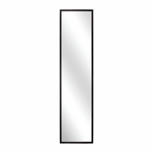 SL Decor Door Mirror 14 x 48- Inch,Over-the-Door Hardware Included.Black Wall Mounted Dressing Mirorr (Over Door Decor compare prices)