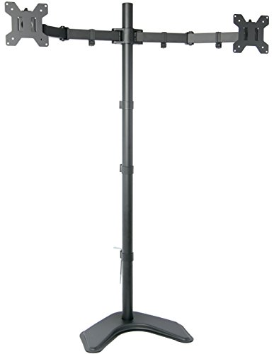 VIVO Dual Monitor Free-Standing Stand up Desk Mount Extra Tall 40