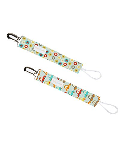 Universal Loop Pacifier Clip Set Of 2 In Cars And Stars front-738202